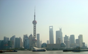 The Pudong skyline, taken from the Bund (2012)