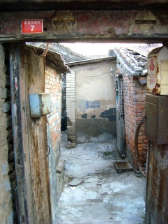 Within a hutong, a traditional dwelling in Beijing