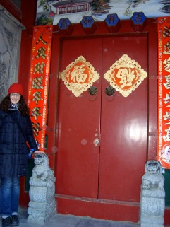Outside a hutong that used to belong to a military official (Beijing)