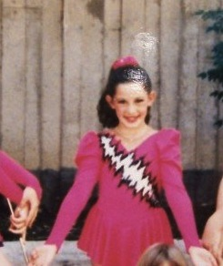 Posing at a contest, probably age 10 or so