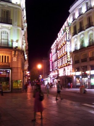 Plaza del Sol by night (Madrid)