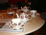 Someday I hope to own teacups like this beautiful service at a Chinatown, NYC tea salon. Until then... cups!
