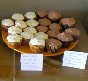 Butternut squash cupcakes and chocolate pomegranate cupcakes